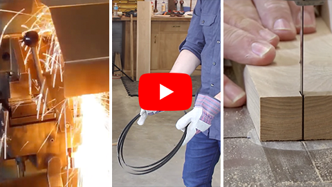 How a Band Saw Blade is Welded & How to Fold & Unfold a Band Saw Blade & Eliminate Drift on your Band Saw Video Thumbnail